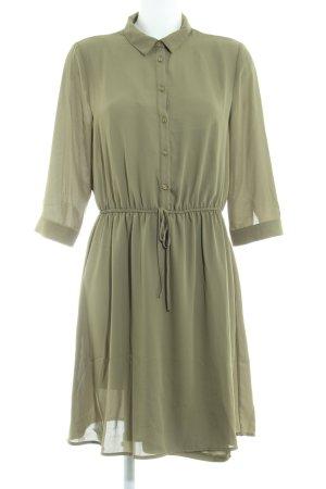 Zalando Hemdblusenkleid olivgrün Elegant