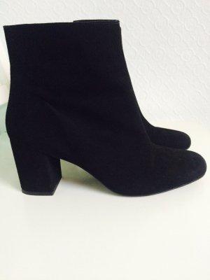 Zalando Botas de tobillo negro Gamuza