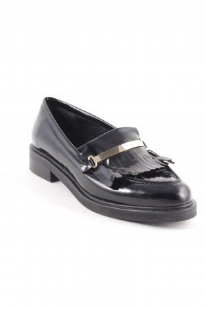 Zalando Iconics Slipper schwarz-goldfarben klassischer Stil