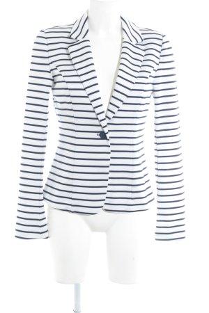 Zalando Jerseyblazer weiß-dunkelblau Streifenmuster Business-Look