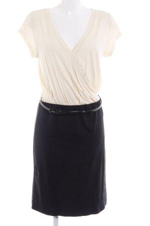 Zalando Minikleid creme-schwarz Paris-Look