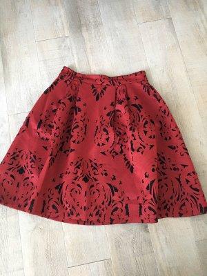 Zalando Flared Skirt black-carmine