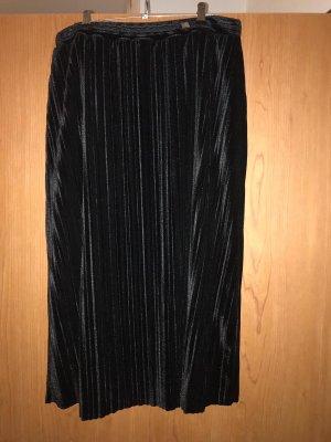 Zanetti Moda Geplooide rok zwart