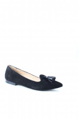 Zanon & Zago Ballerinas with Toecap black leather