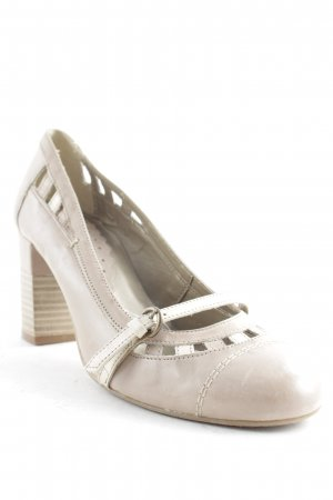 Zanon & Zago Mary Jane Pumps hellbraun-hellbeige Casual-Look