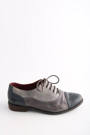 Zanon & Zago Zapatos brogue gris claro-azul look casual