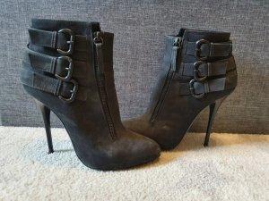 zanotti nubuk buckle Boots high heel Stiefeletten