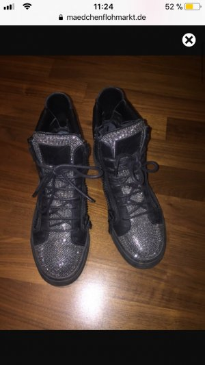 Zanotti sneaker high top Swarovski