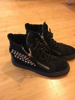 Zanotti Sneaker Schwarz mit Nieten - 38