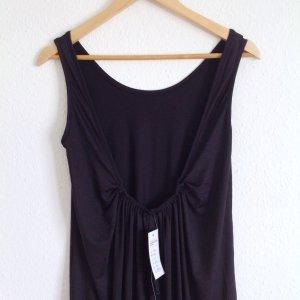 Zanzea x Zara Cocoon Eggshape Maxikleid Schwarz Kleid Ibiza mit Rückausschnitt Schlauchkleid S M