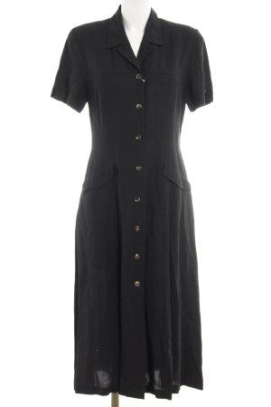 Zapa Hemdblusenkleid schwarz Elegant