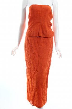 Zapa schulterfreies Kleid dunkelorange Party-Look