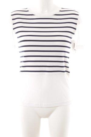 Zapa T-Shirt weiß-dunkelblau Streifenmuster Casual-Look
