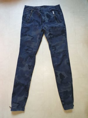 Zara Basic Pantalone a vita bassa multicolore
