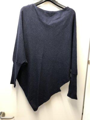 Zara Maglione lungo blu scuro Cotone