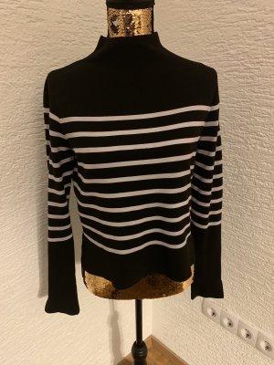 Zara Long Sleeve Blouse black-white