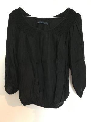 Zara 3/4 Arm Shirt, schwarz, Gr S