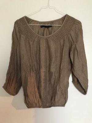 Zara 3/4 Shirt, noisette, Gr xs