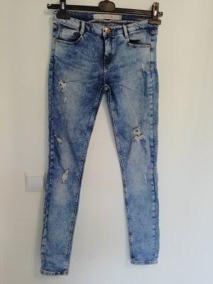 Zara Trafaluc Drainpipe Trousers multicolored