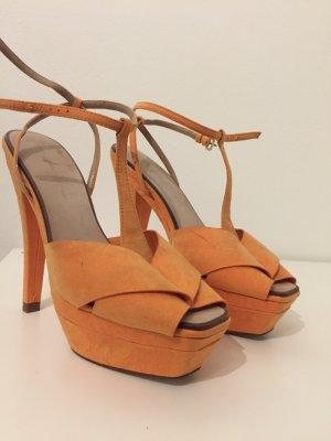 ZARA 38 orange Pumps Sommerschuh Shoes HighHeels