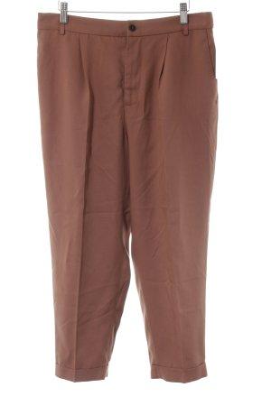 Zara Pantalon 7/8 brun style classique