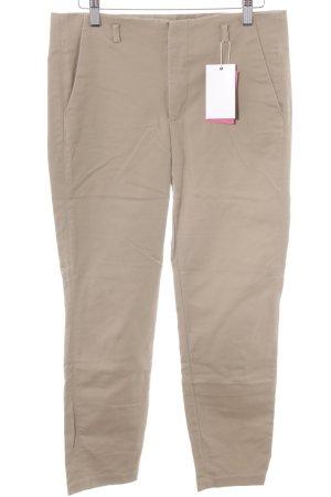 Zara Pantalón tobillero marrón claro estilo «business»