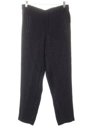 Zara Pantalon 7/8 noir motif floral élégant