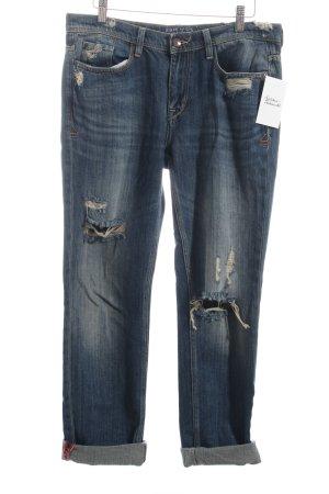 Zara 7/8 Jeans blau Used-Optik