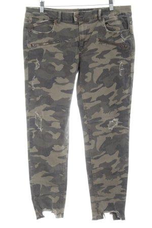 Zara 7/8 Jeans Camouflagemuster Destroy-Optik