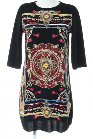 Zara A-Linien Kleid abstraktes Muster Casual-Look