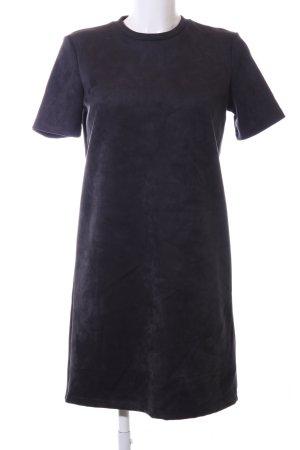 Zara A-Linien Kleid hellgrau meliert Casual-Look