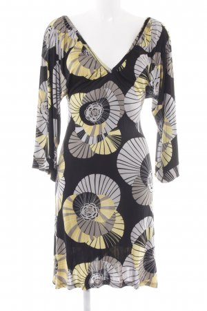 Zara A Line Dress abstract print '60s style