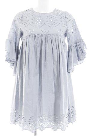 Zara A-Linien Kleid blassblau Romantik-Look