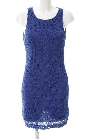 Zara A-Linien Kleid blau Lochstrickmuster Casual-Look