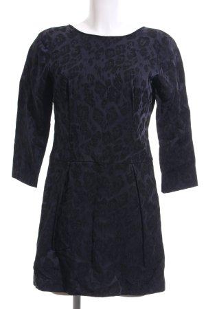 Zara A-Linien Kleid dunkelblau Leomuster Elegant