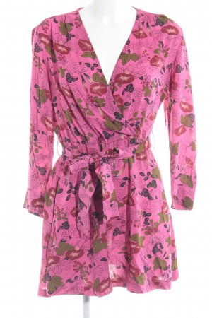 Zara A-Linien Kleid florales Muster Casual-Look