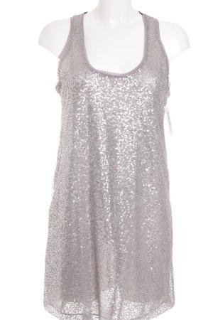 Zara A-lijn jurk lichtgrijs-mauve glitter-achtig