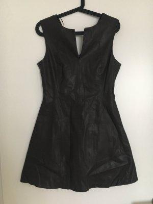 Zara A-Linien Kleid in Lederoptik
