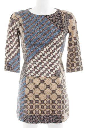 Zara Vestido línea A Mezcla de patrones estilo extravagante