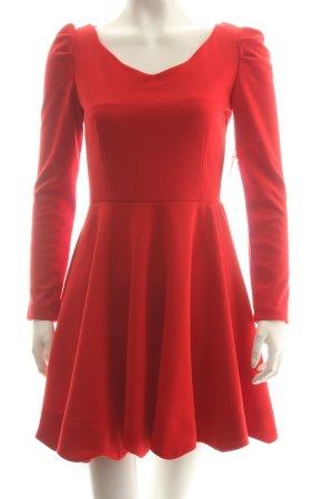 Zara A-Linien Kleid rot Eleganz-Look