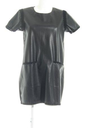 Zara A-Linien Kleid schwarz Ethno-Look