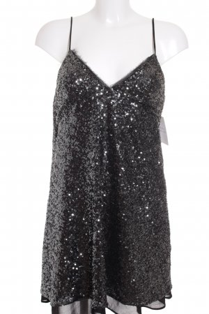 Zara A Line Dress silver-colored-black party style
