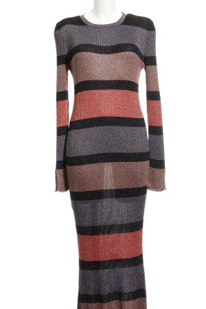 Zara A-Linien Kleid Streifenmuster Casual-Look
