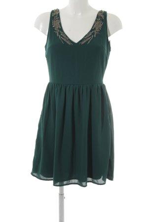 Zara A-Linien Kleid waldgrün Elegant