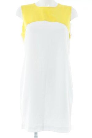 Zara A-Linien Kleid weiß-gelb Elegant