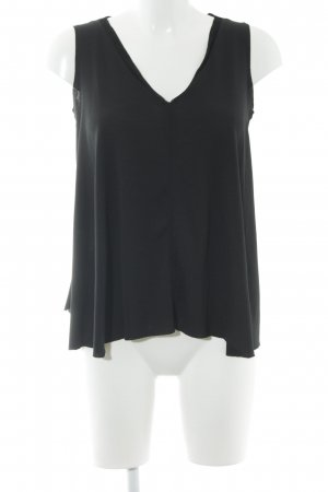 Zara A-Linien Top schwarz schlichter Stil