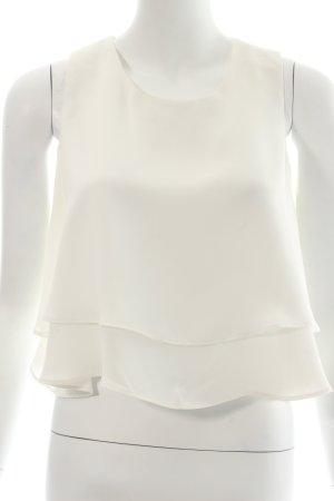 Zara A-Linien Top weiß klassischer Stil