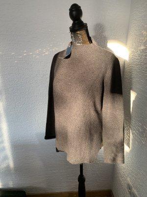 Zara Jersey de punto gris antracita