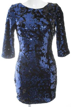 Zara Abendkleid schwarz-blau Glitzer-Optik