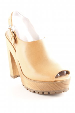 029a15c92ea Zara Heel Pantolettes light brown elegant